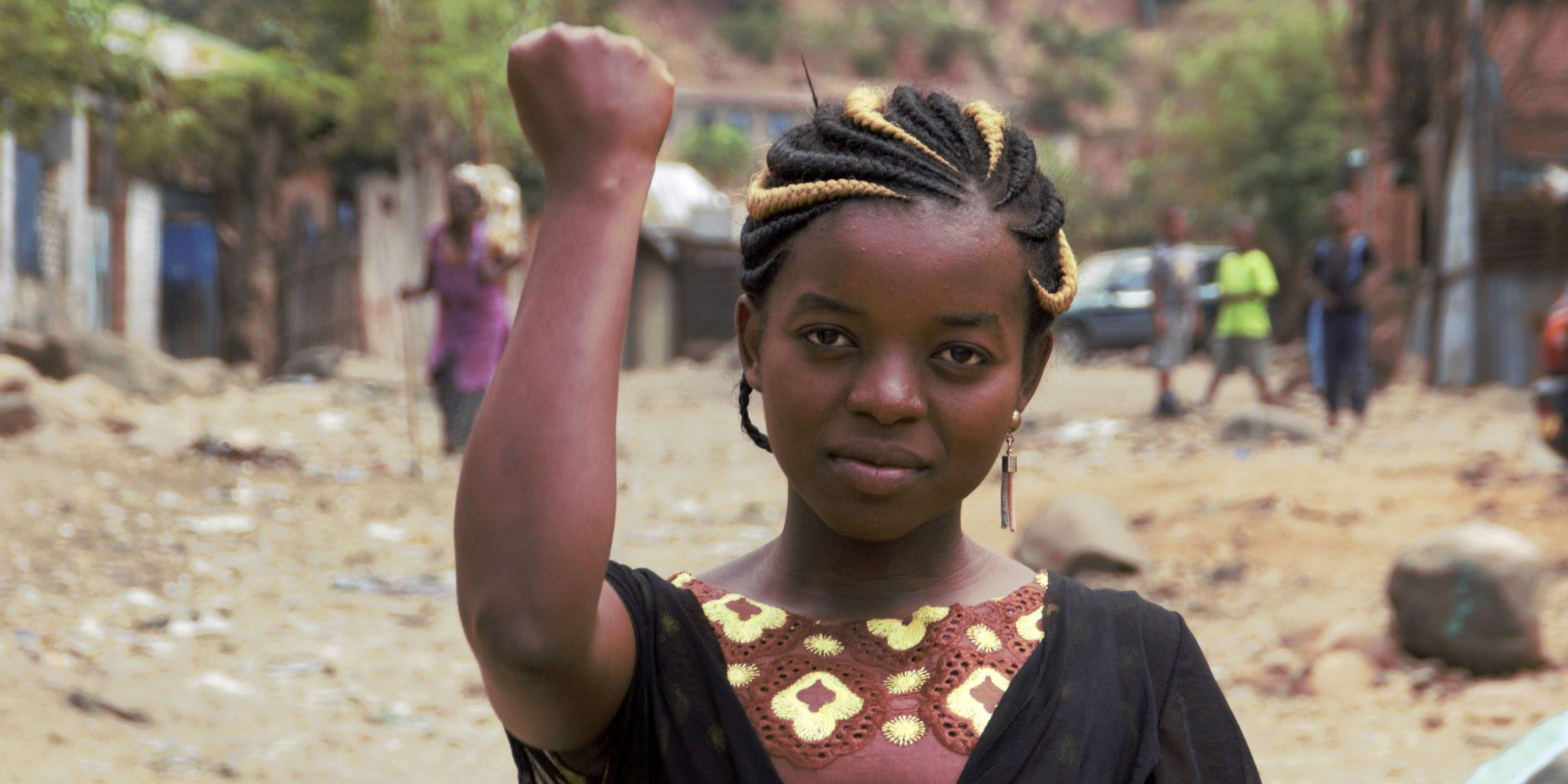Francine Kasimba är ordförande i CEDEJ-GL:s ungdomsgrupp. Foto: Bertin Mungombe