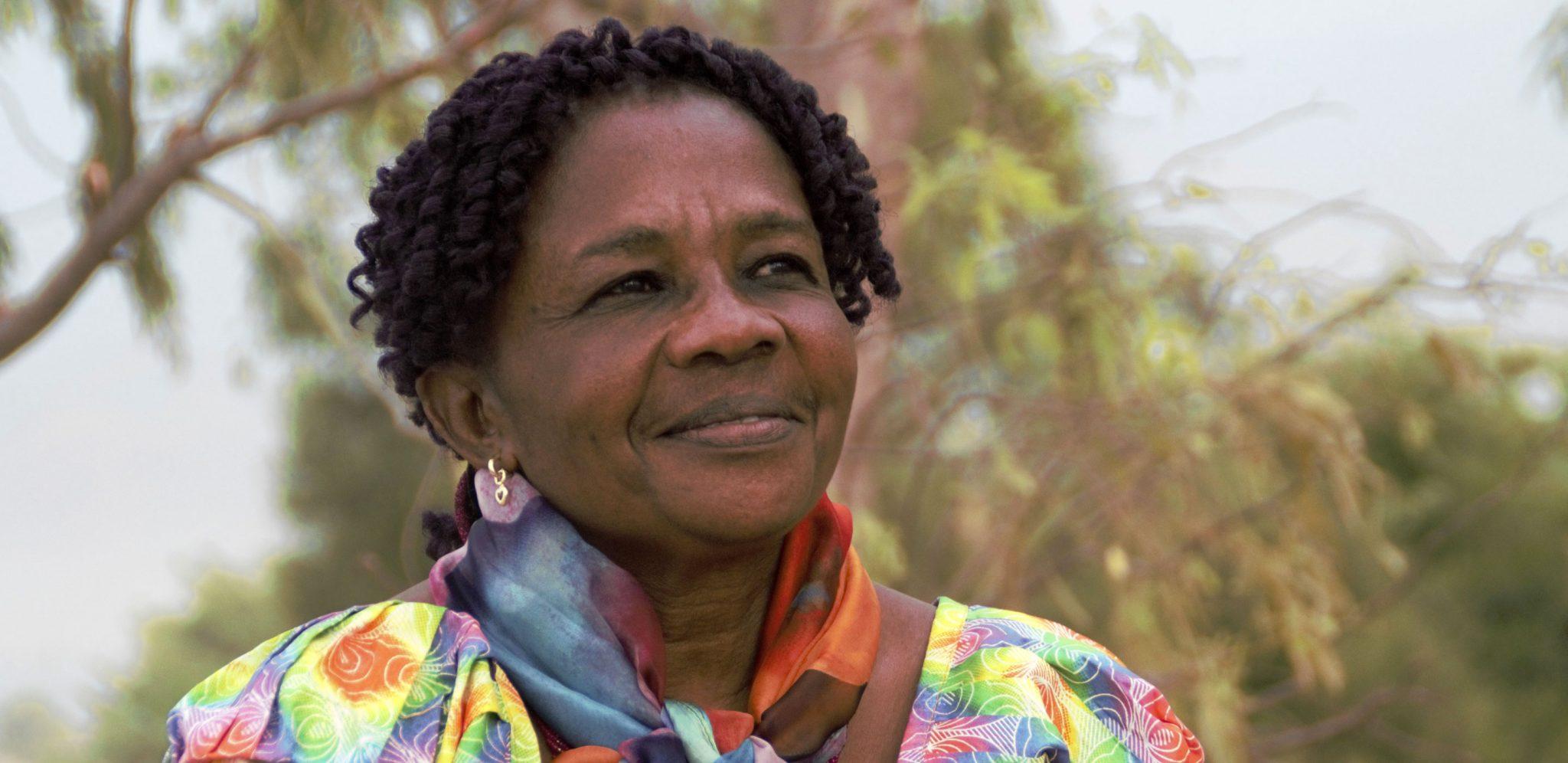 """""""Jag kommer aldrig att ge upp. I mitt hjärta finns det ingen plats för rädsla"""", säger Gégé Katana Bukuru som tilldelas Per Anger-priset, regeringens pris för mänskliga rättigheter. Foto: Bertin Mungombe"""