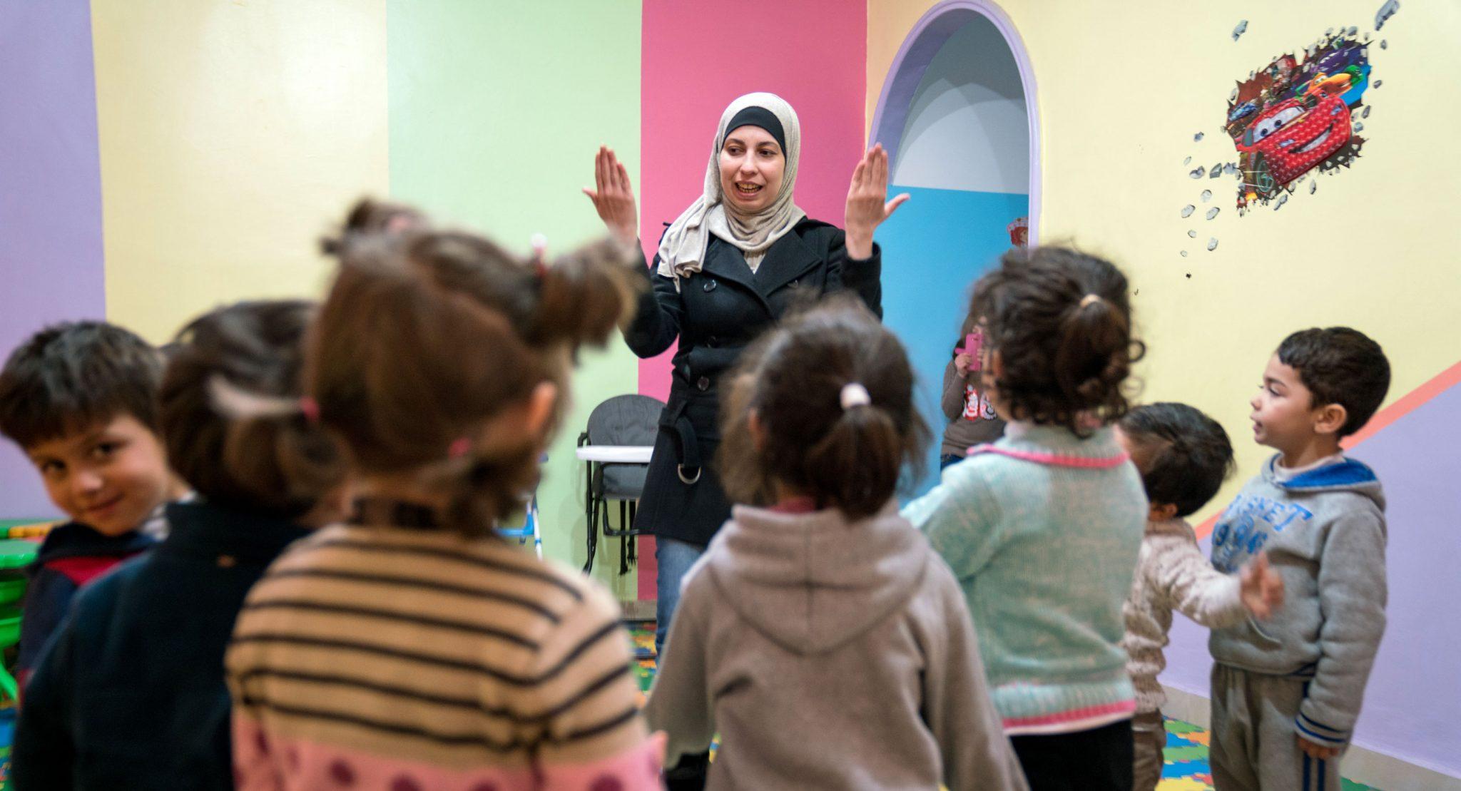 Genom Kvinna till Kvinnas jordanska samarbetsorganisation The Families Development Association kunde Rouaa starta en förskola i huvudstaden Amman. Foto: Christopher Herwig