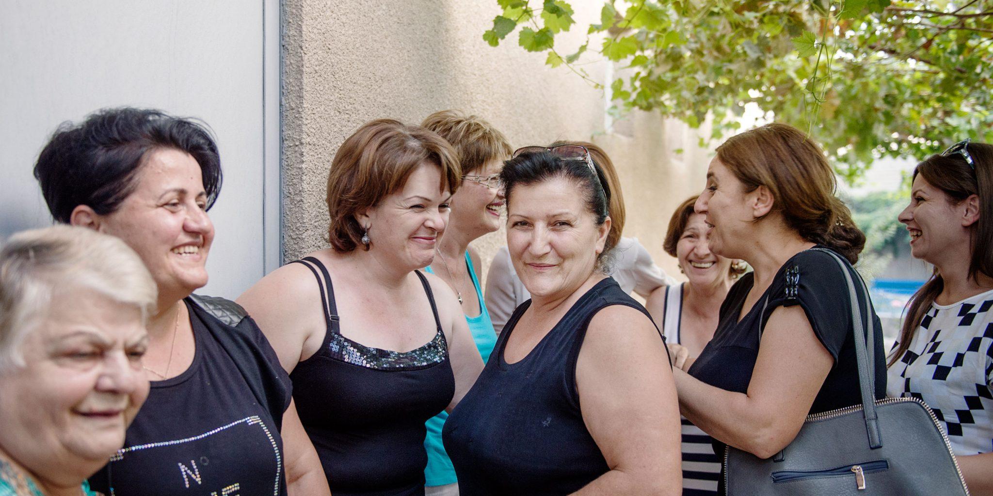 Kvinnoklubben i armeniska byn Nalbandyan utvecklar strategier för att åstadkomma förändring för byns kvinnor. Foto: Pi Frisk