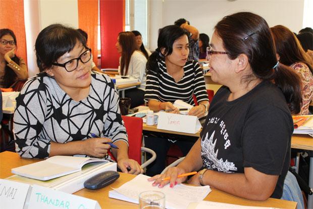 Deltagare från Kvinna till Kvinnas Internationella Träningsprogram (ITP) om kvinnor, fred och säkerhet. Foto: Kvinna till Kvinna/Josefin Ekermann