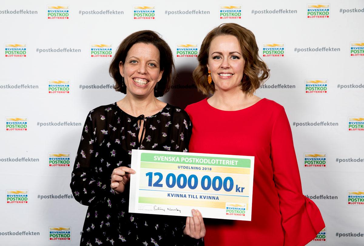Petra Tötterman Andorff, tf generalsekreterare, Kvinna till Kvinna, och Anna Tjäder, marknadsansvarig, Kvinna till Kvinna.