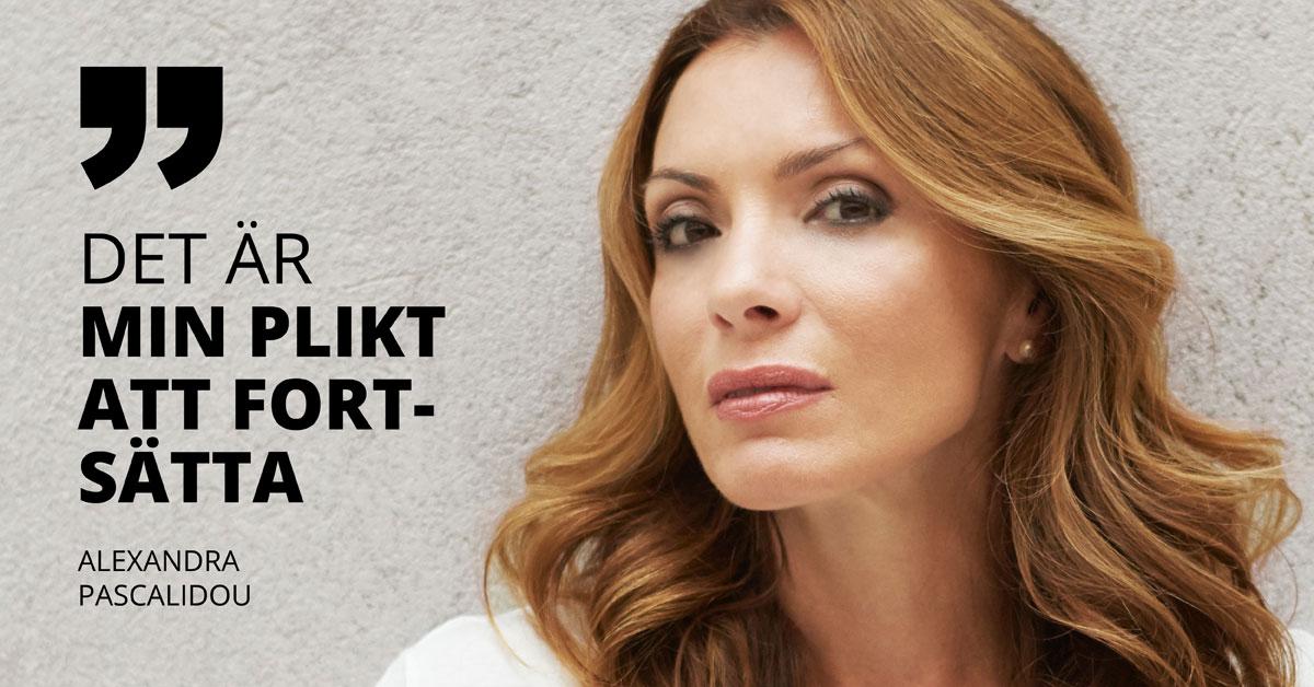 Hot och hat mot kvinnliga journalister i Sverige har blivit ett allvarligt hot mot demokratin. Som programledare för olika radio- och teveprogram, däribland Ring P1, har Alexandra Pascalidou blivit utsatt för oräkneliga rasistiska och sexistiska påhopp. Foto: Anna Huerta