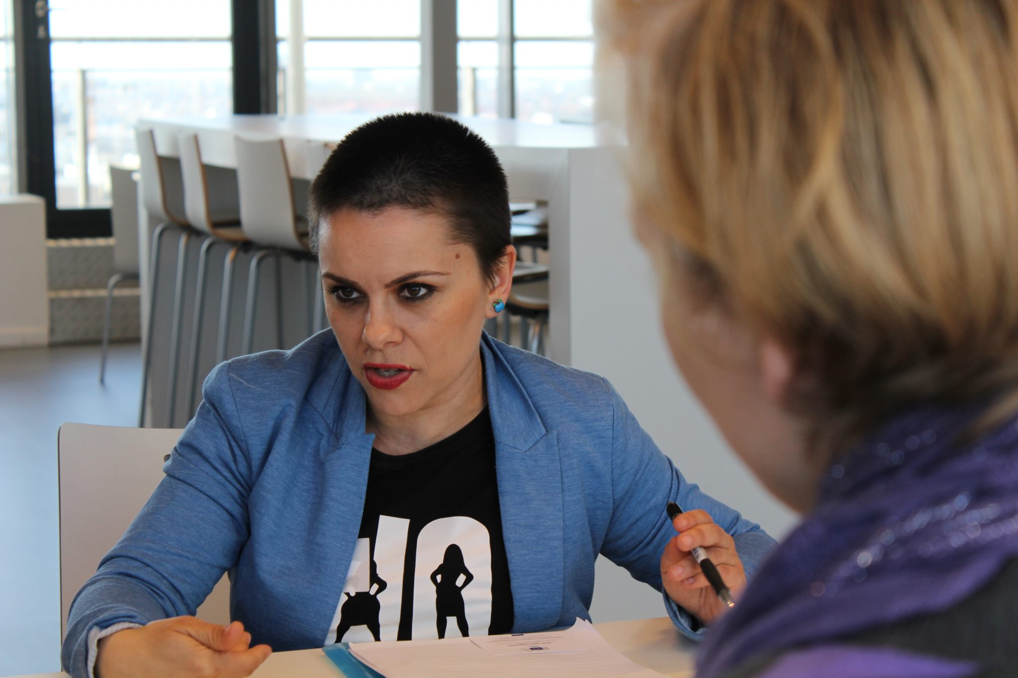 Sheska Ilikj, från REACTOR, en av våra partnerorganisationer i Nordmakedonien.