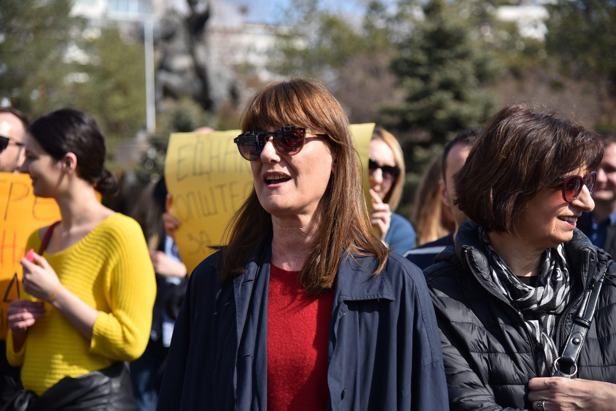 Marija Savovska engagerar sig för kvinnors rättigheter i Nordmakedonien. Hon arbetar som verkställande direktör på Kvinna till Kvinnas partnerorganisation Akcija Zdruzhenska. Foto: Maja Janevska Ilieva