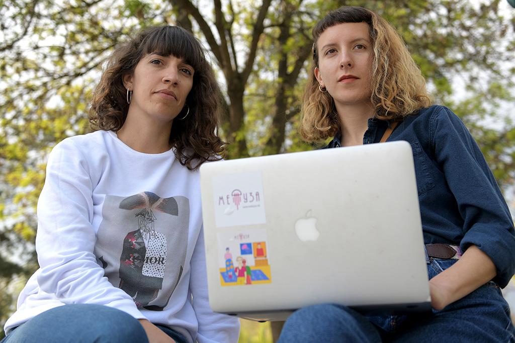 På bild: Jovana Jovanovska Kanurkova och Kalia Dimitrova. Foto: Maja Janevska Ilieva.