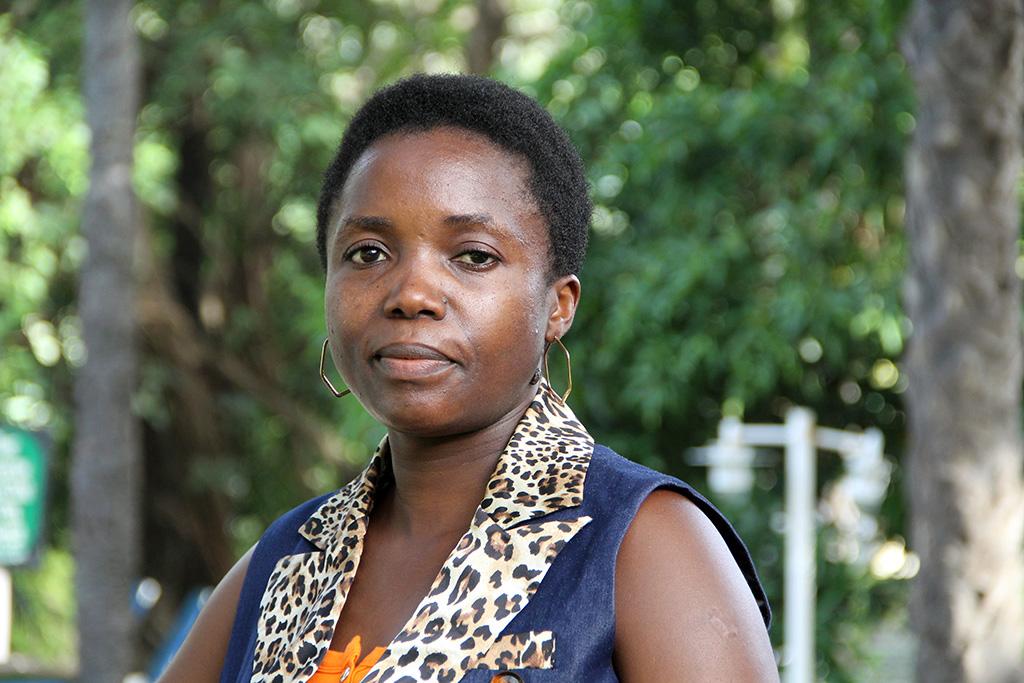 Julienne Baseke och organisationen AFEM jobbar för att minska våldet mot kvinnor i DR Kongo. Foto: Anna-Carin Hall / Kvinna till Kvinna