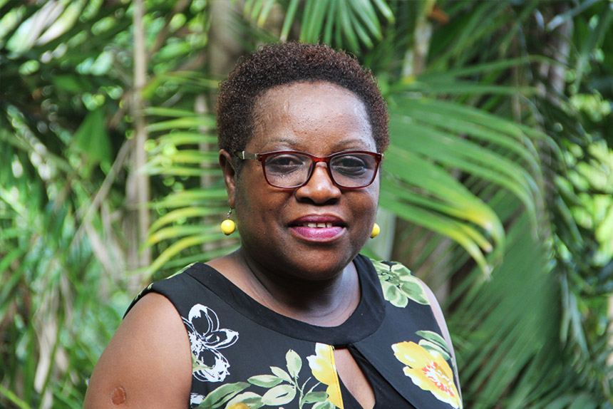 Odette Musengimana som leder Kvinna till Kvinnas partnerorganisation Réseau de Femmes i Rwanda.