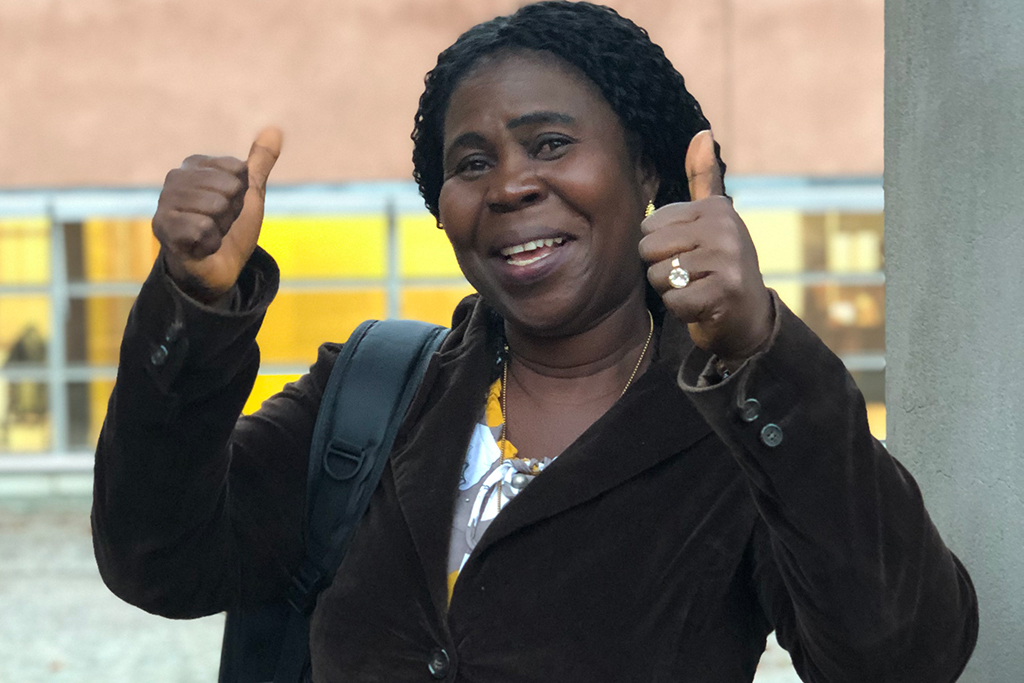 Nowaii Ida Kaiser leder arbetet i den liberiska kvinnorättsorganisationen RWRS. Foto: Kvinna till Kvinna/Karolina Pihlo