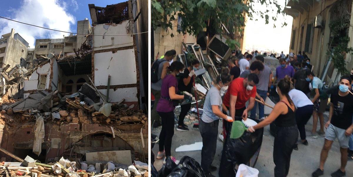 Explosionen den fjärde augusti dödade 200 människor och lämnade 300 000 hemlösa. Många lokala organisationer möter nu upp de omfattande behoven. Foto: Fredrik Westerholm