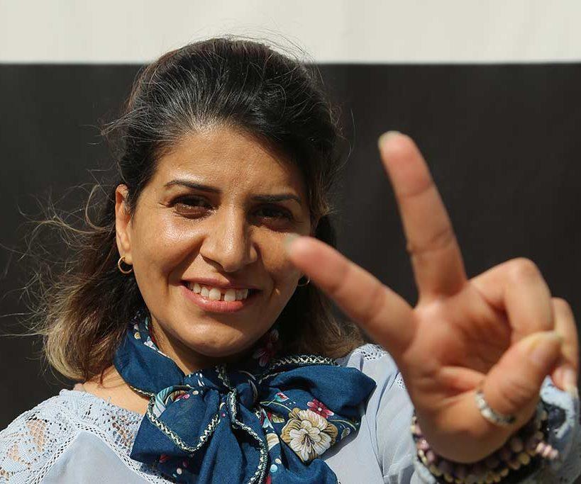 Intisar Al-Amyal från Kvinna till Kvinnas partnerorganisation Iraqi Women's League. Kvinna till Kvinna har arbetat för kvinnors rättigheter i Irak sedan 2005. Foto: Anne-Sophie Le Mauff
