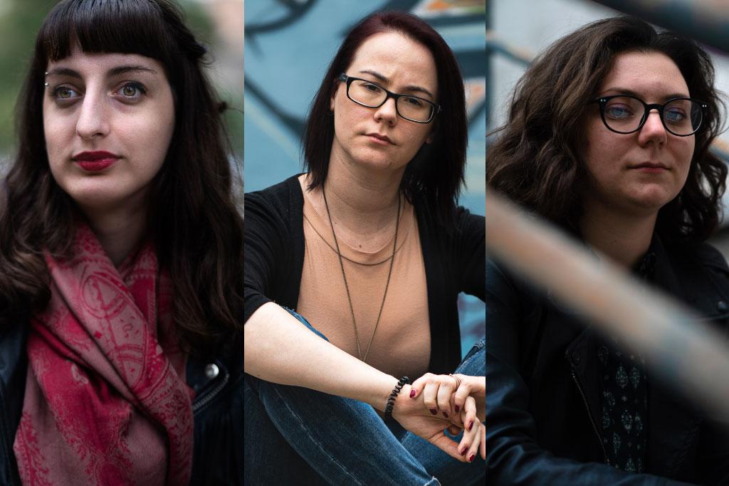 Milanka Lana Nikolic, Tamara Pavlovic och Tamara Jovanovic bor i Belgrad och kämpar för unga kvinnors rättigheter i Serbien. De är engagerade i Kvinna till Kvinnas partnerorganisation Alternative Girls' Center.