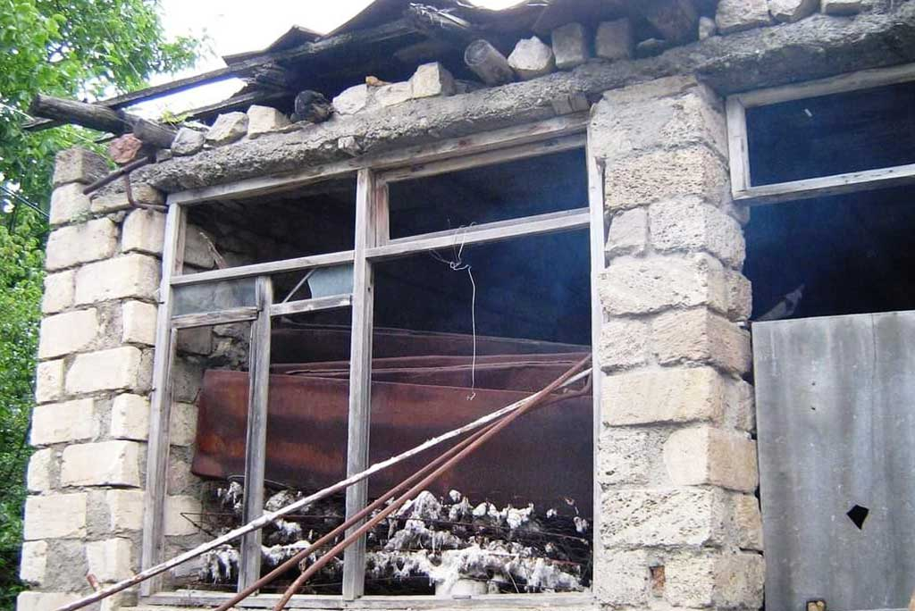Byggnadsställning i Nagorno-Karabach.